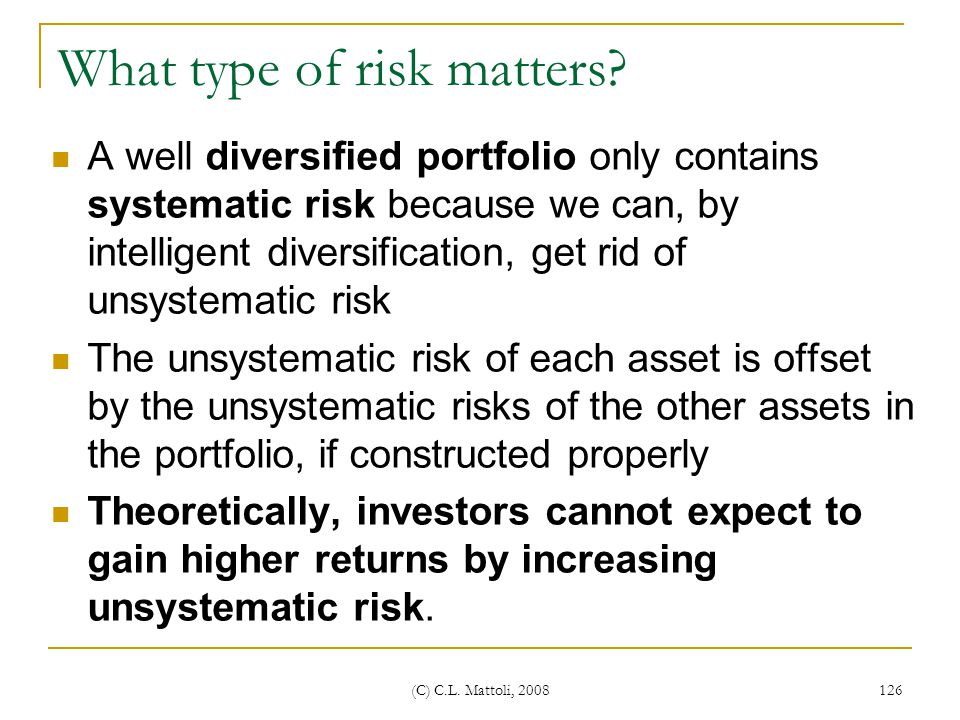 What type of risk matters