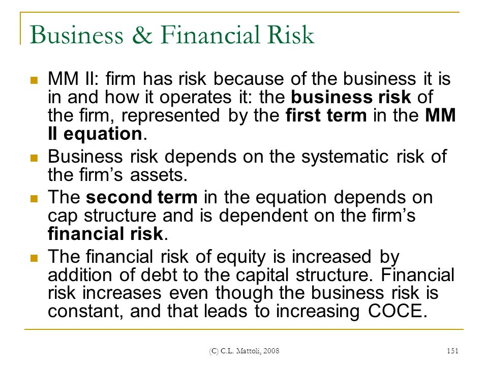 Business & Financial Risk