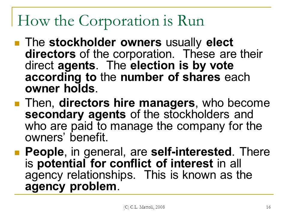 How the Corporation is Run