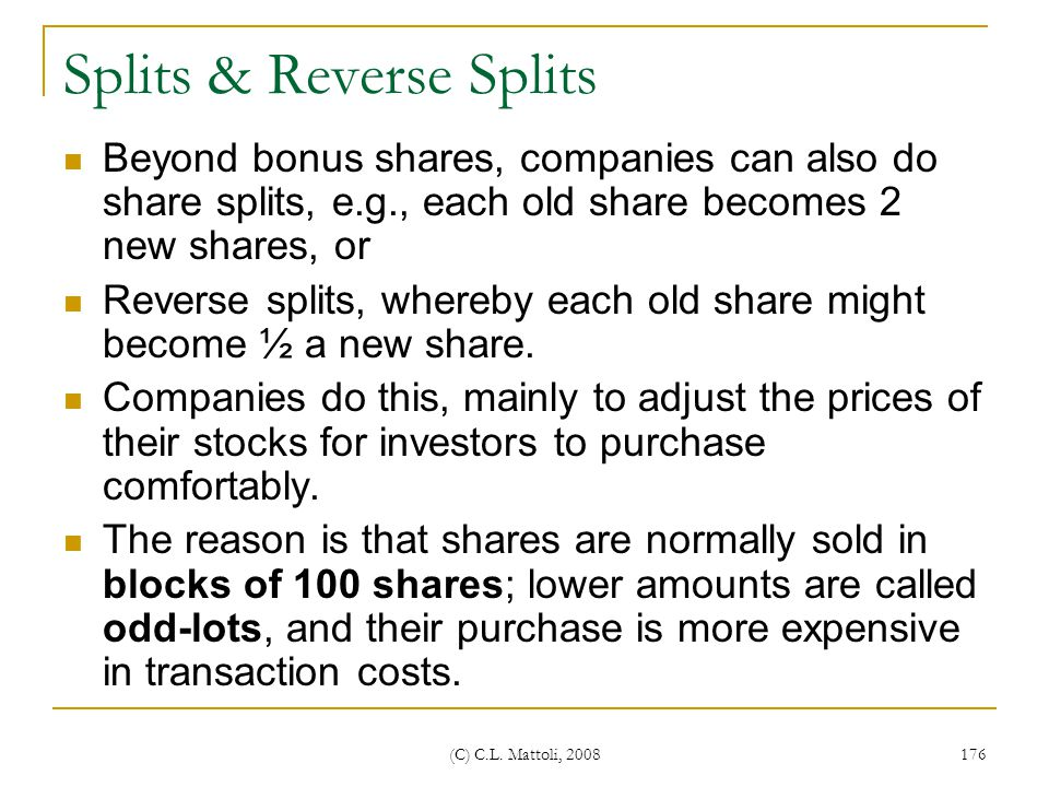 Splits & Reverse Splits