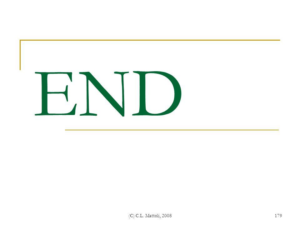 END (C) C.L. Mattoli, 2008