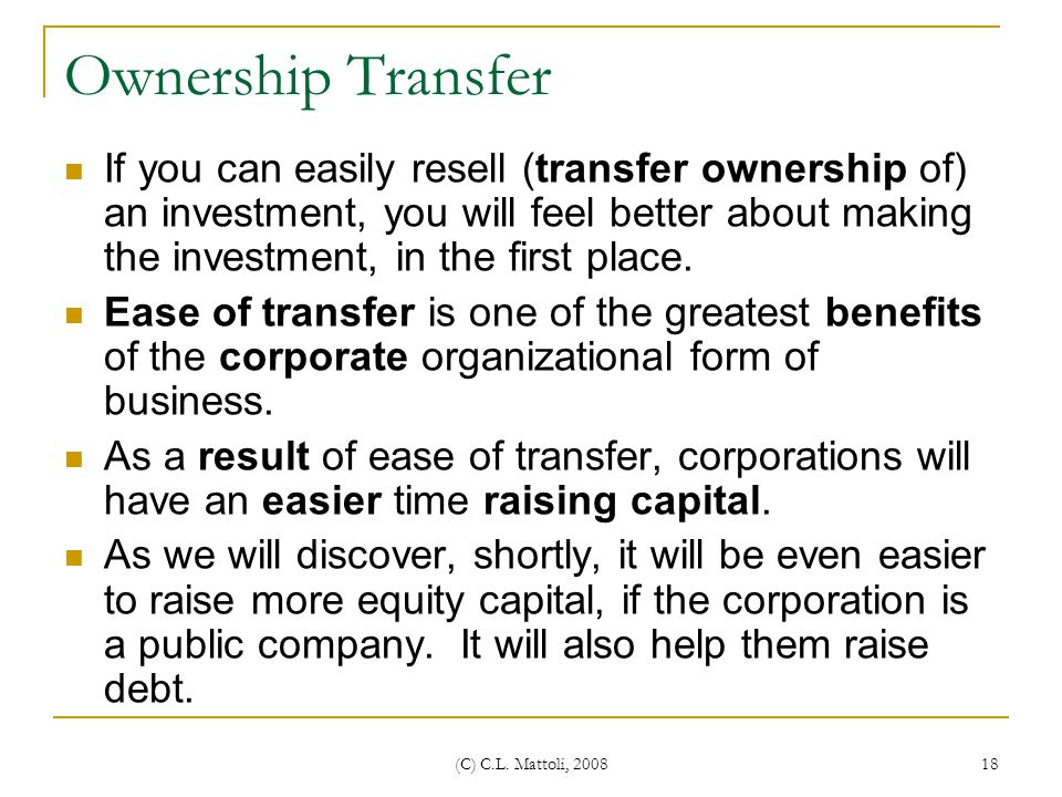 Ownership Transfer
