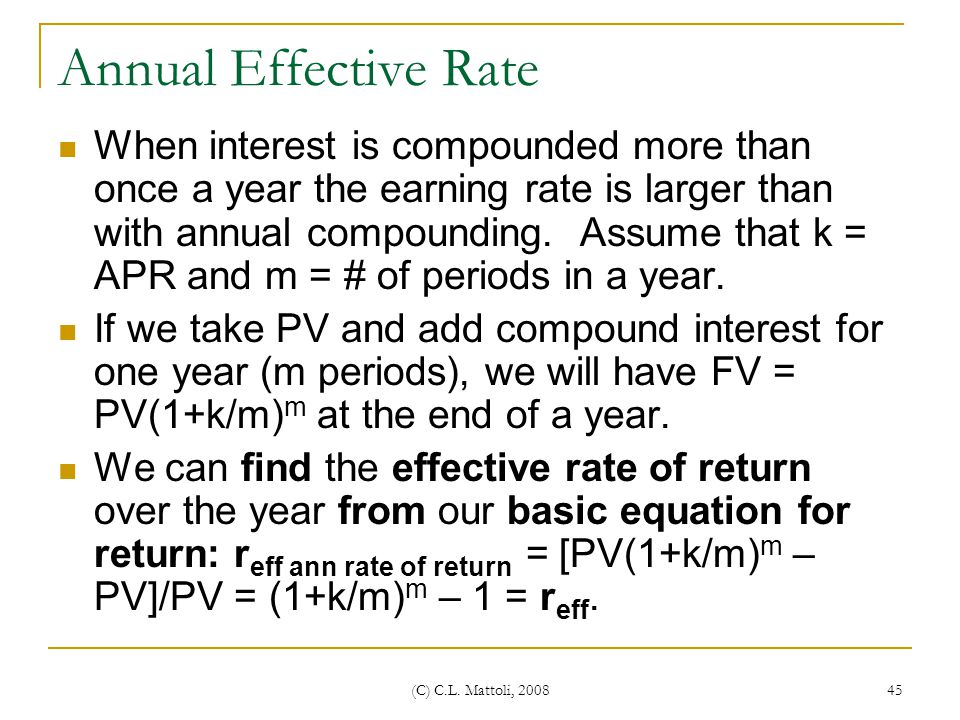 Annual Effective Rate