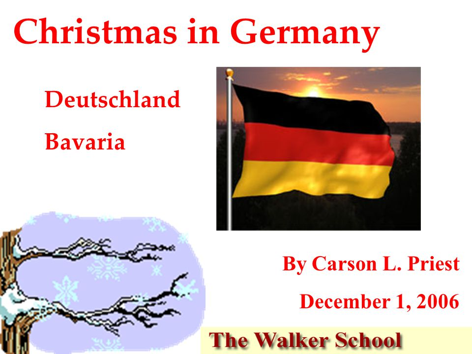 Christmas in Germany Deutschland Bavaria By Carson L. Priest