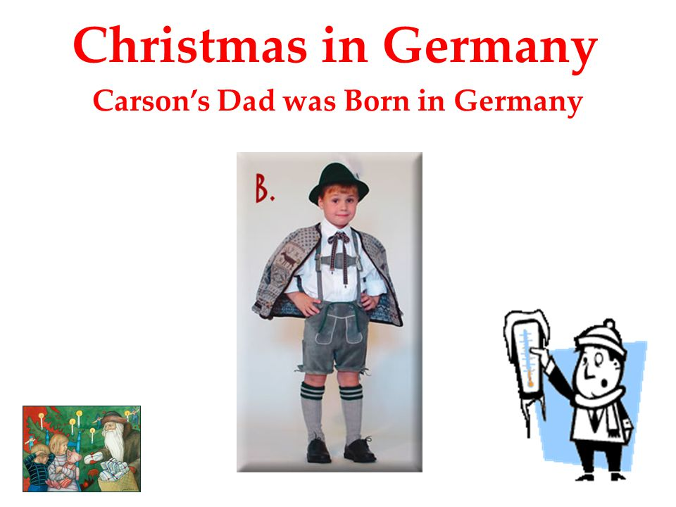 Carson's Dad was Born in Germany