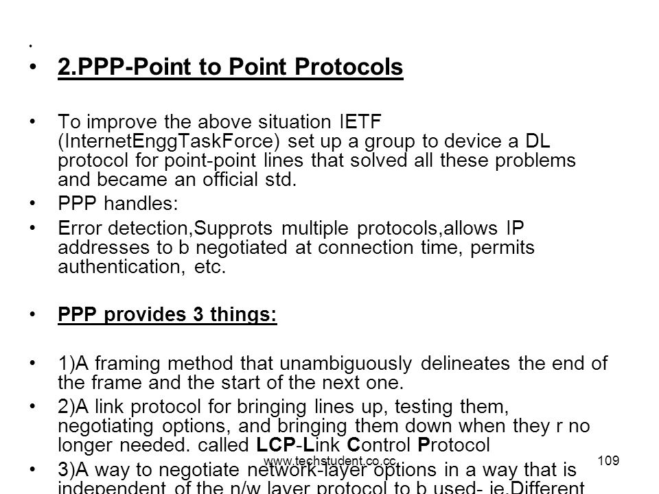 2.PPP-Point to Point Protocols