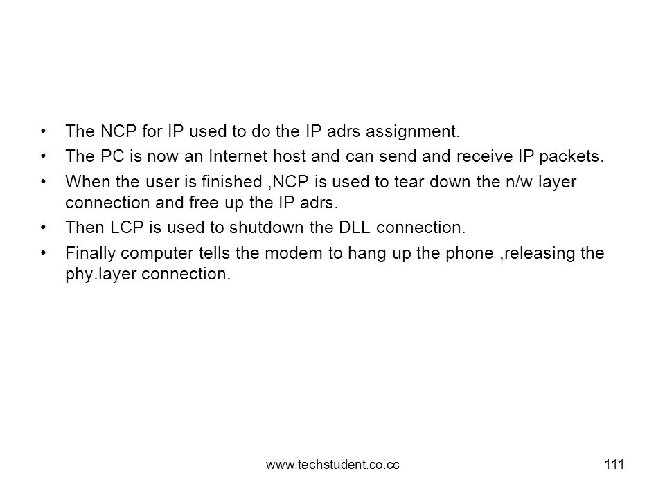 The NCP for IP used to do the IP adrs assignment.