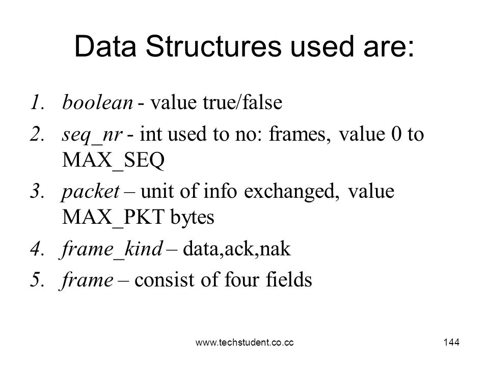 Data Structures used are: