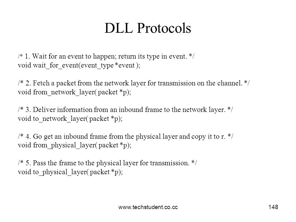 DLL Protocols void wait_for_event(event_type *event );