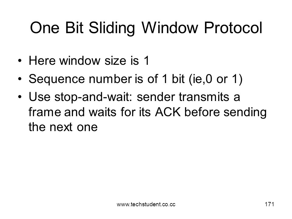 One Bit Sliding Window Protocol
