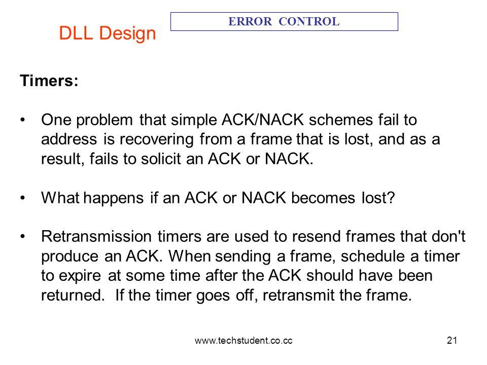 DLL Design ERROR CONTROL. Timers: