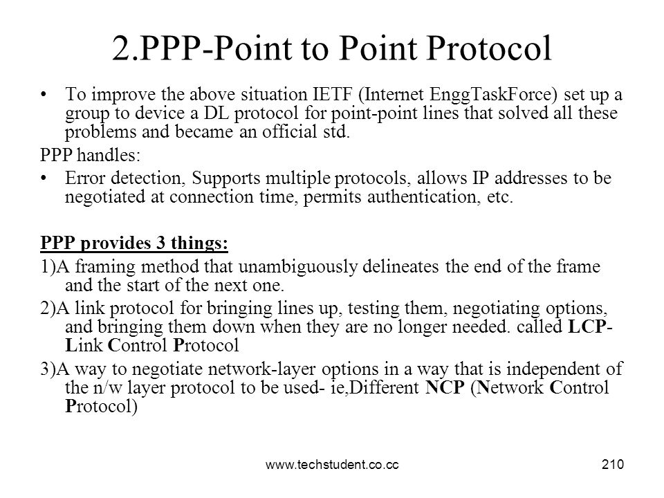 2.PPP-Point to Point Protocol