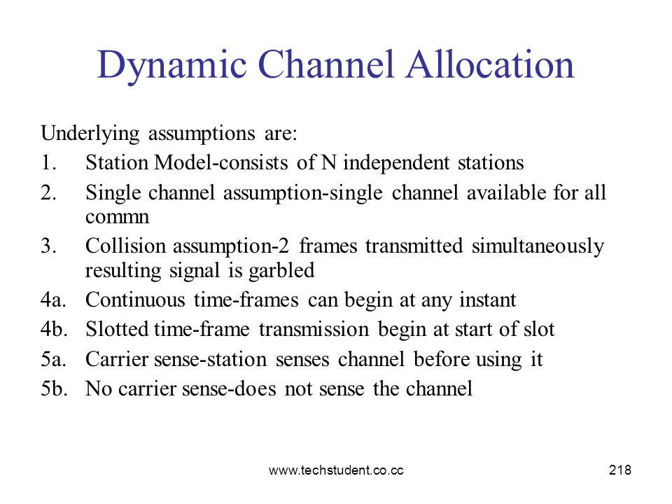 Dynamic Channel Allocation