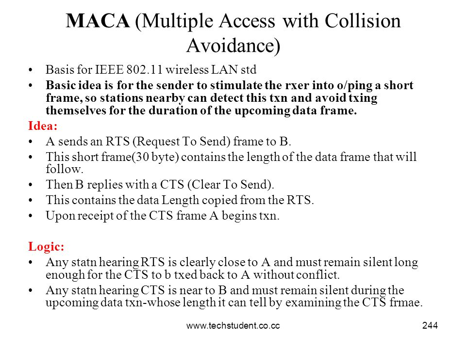 MACA (Multiple Access with Collision Avoidance)