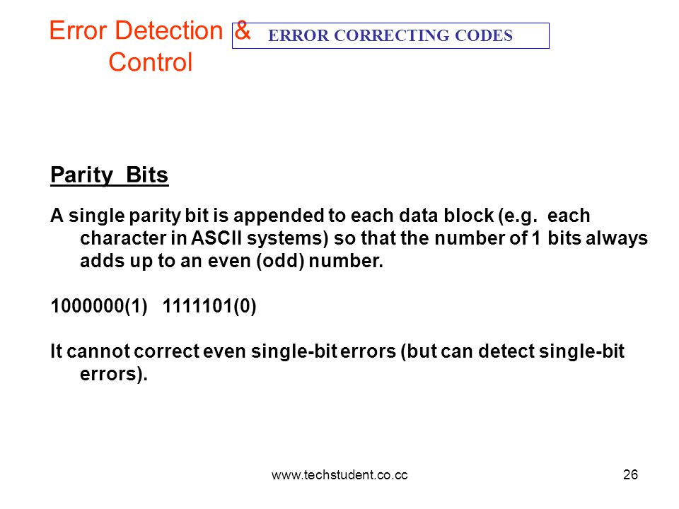Error Detection & Control