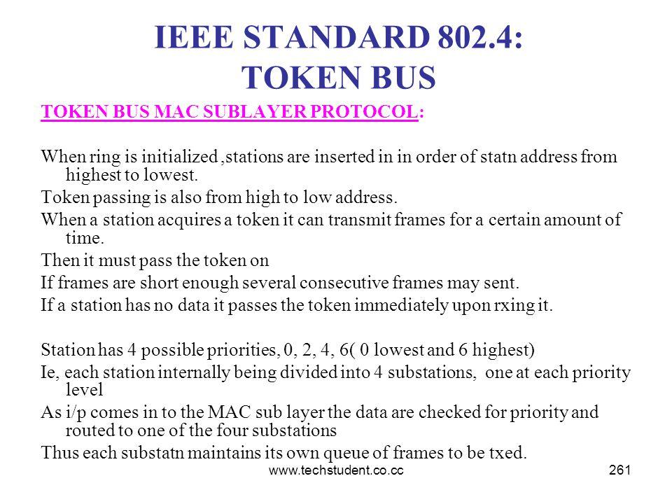 IEEE STANDARD 802.4: TOKEN BUS