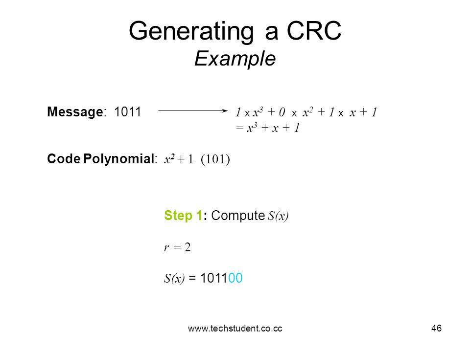 Generating a CRC Example