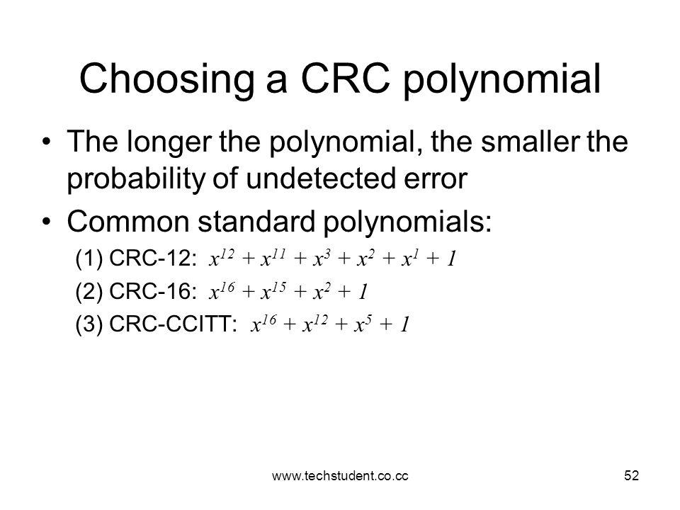 Choosing a CRC polynomial