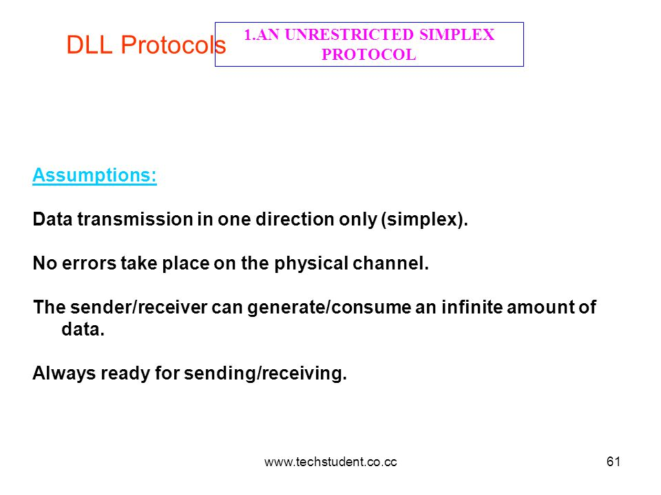 1.AN UNRESTRICTED SIMPLEX PROTOCOL