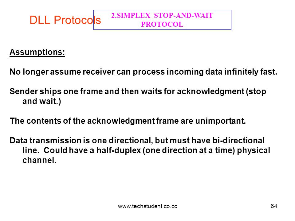 2.SIMPLEX STOP-AND-WAIT PROTOCOL