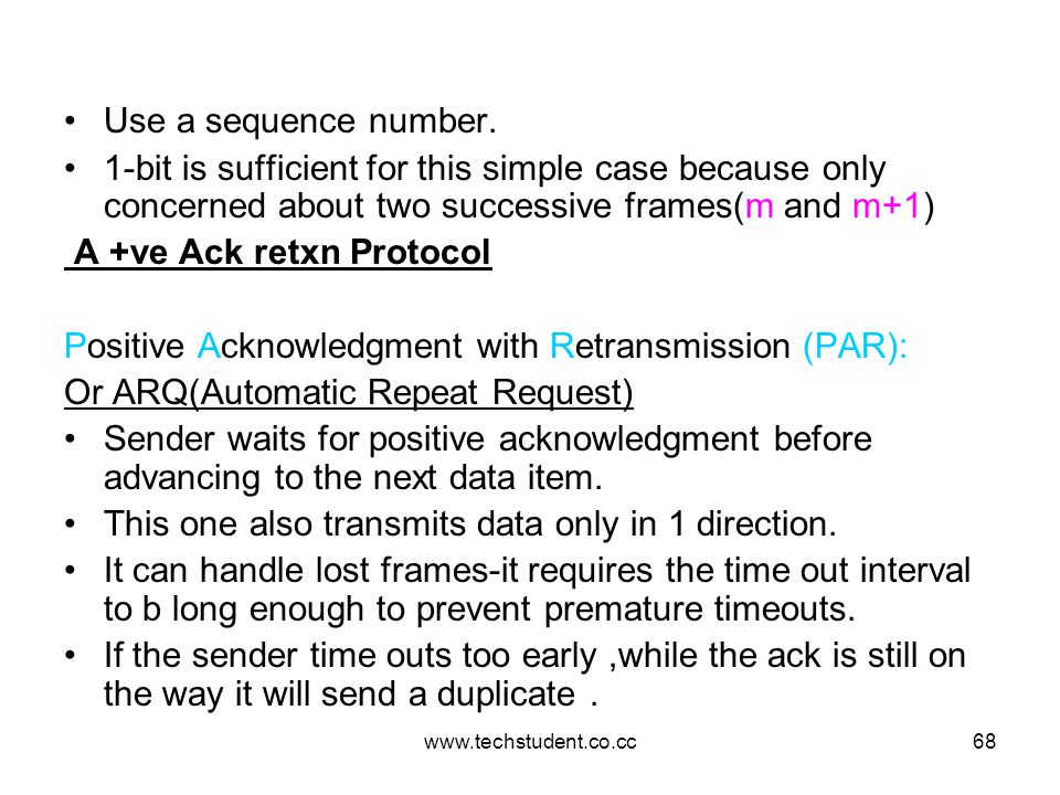 A +ve Ack retxn Protocol