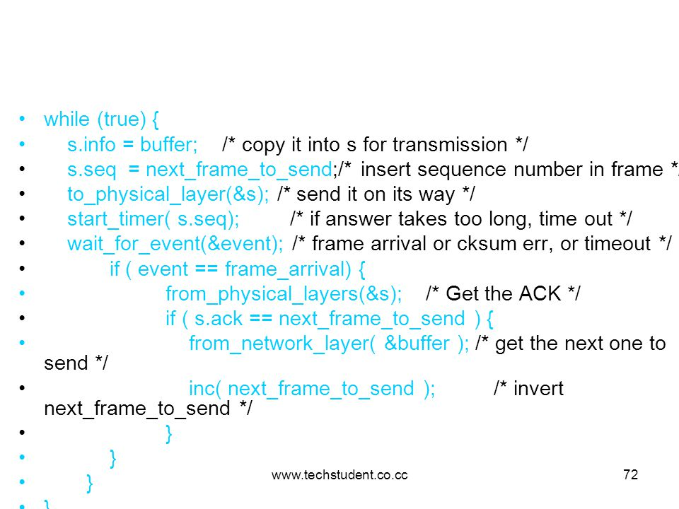 s.info = buffer; /* copy it into s for transmission */