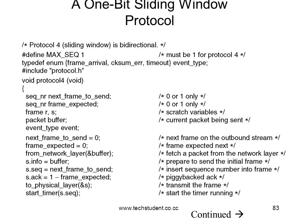 A One-Bit Sliding Window Protocol