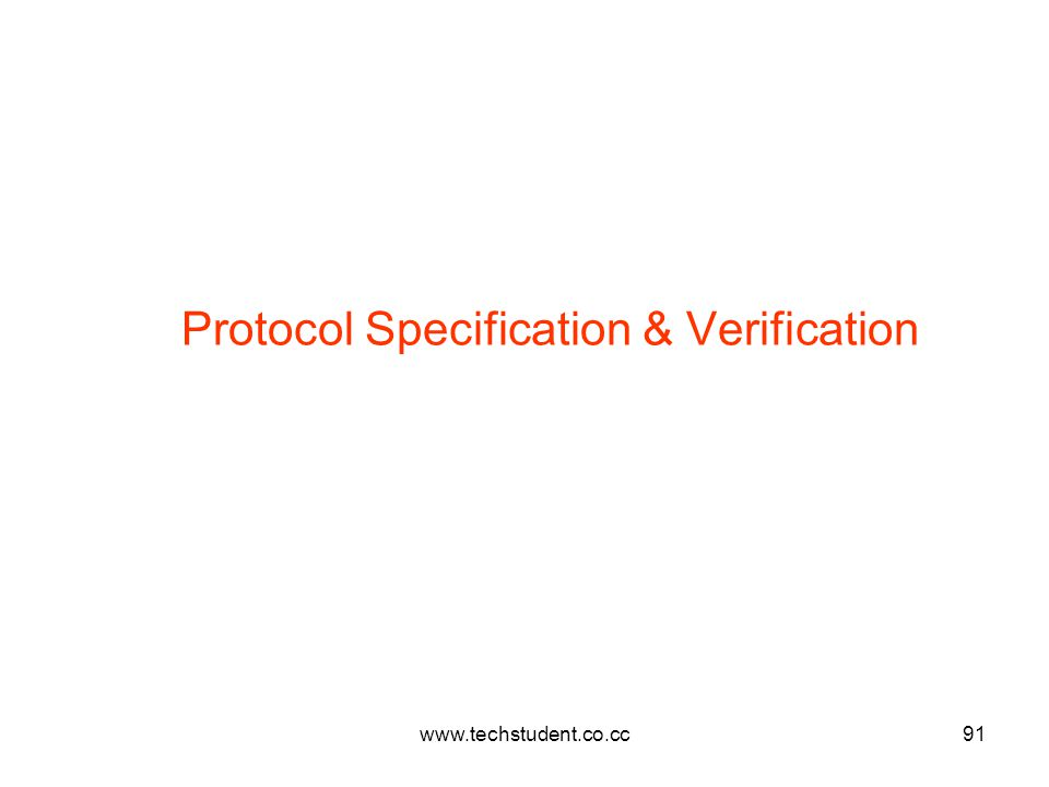 Protocol Specification & Verification