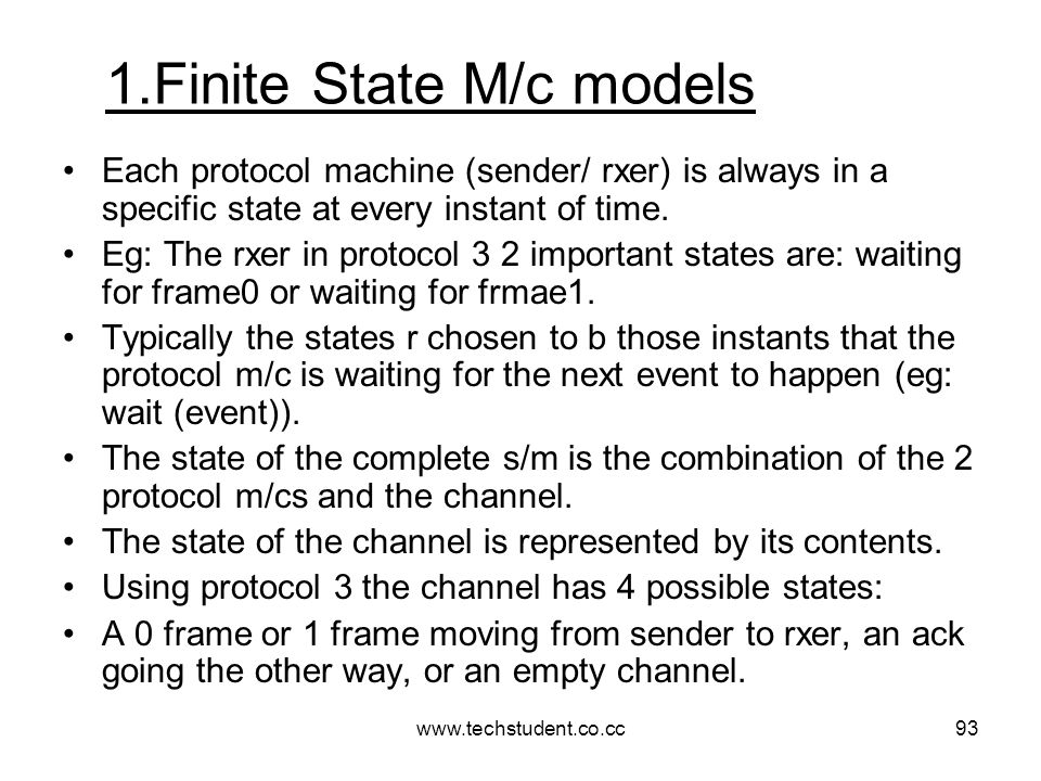 1.Finite State M/c models
