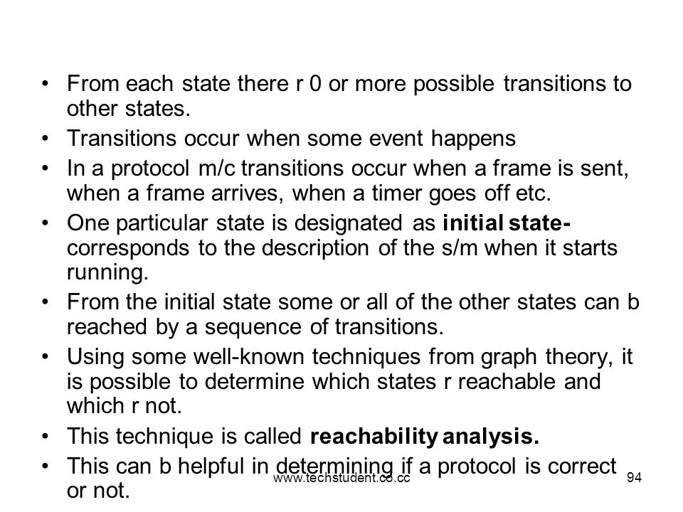 Transitions occur when some event happens