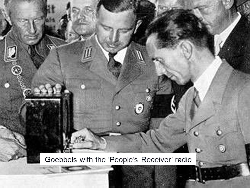 Goebbels with the 'People's Receiver' radio