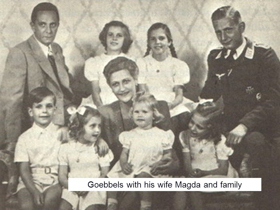 Goebbels with his wife Magda and family