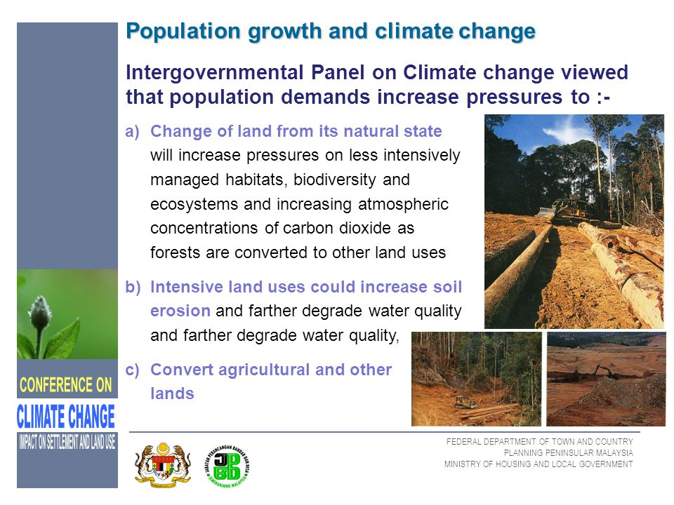Population growth and climate change