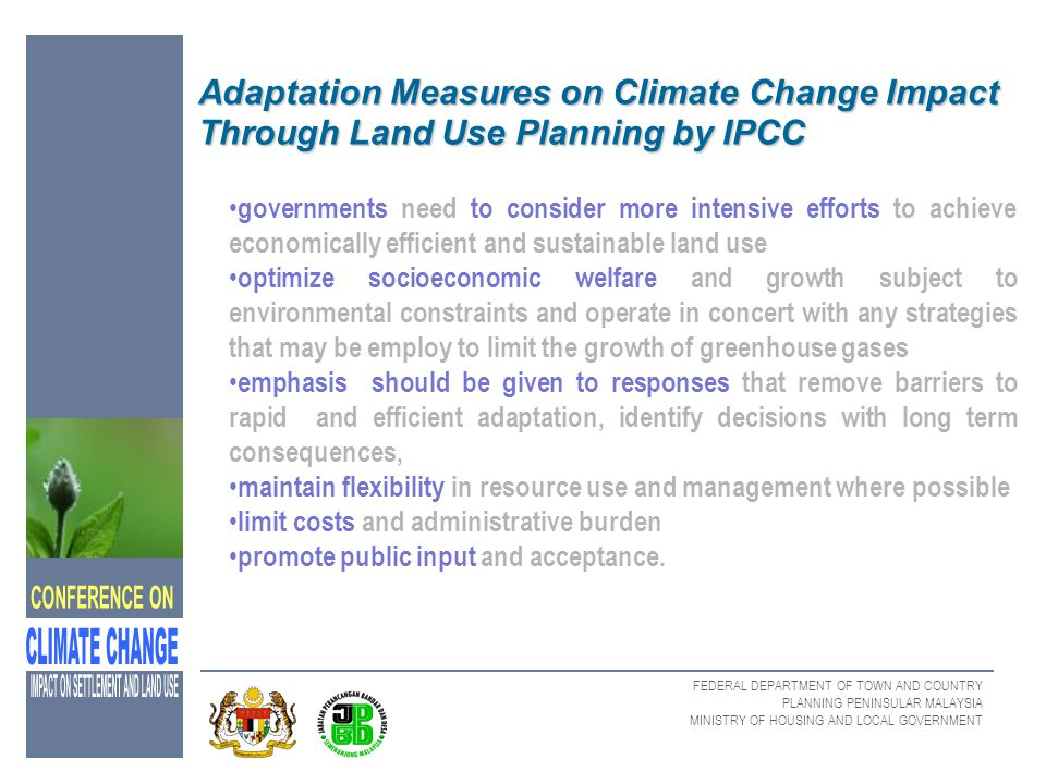Adaptation Measures on Climate Change Impact Through Land Use Planning by IPCC