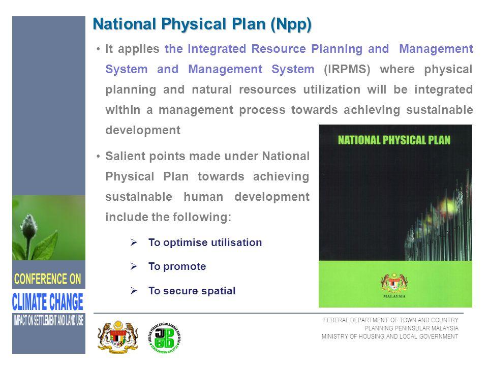 National Physical Plan (Npp)