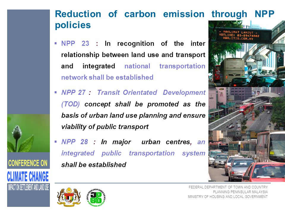 Reduction of carbon emission through NPP policies