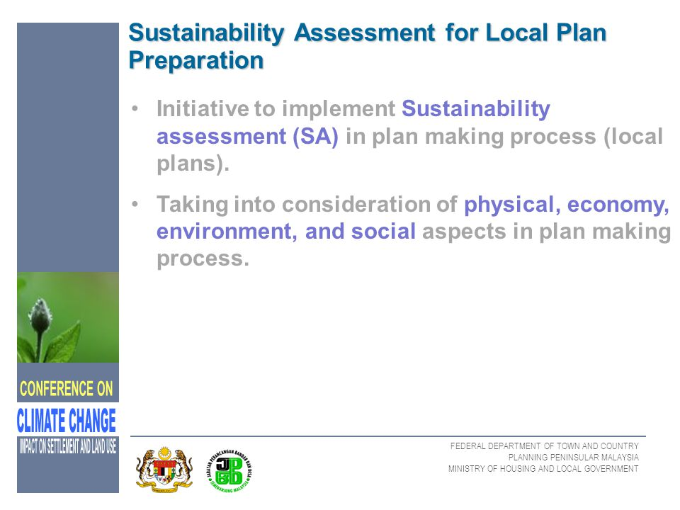 Sustainability Assessment for Local Plan Preparation