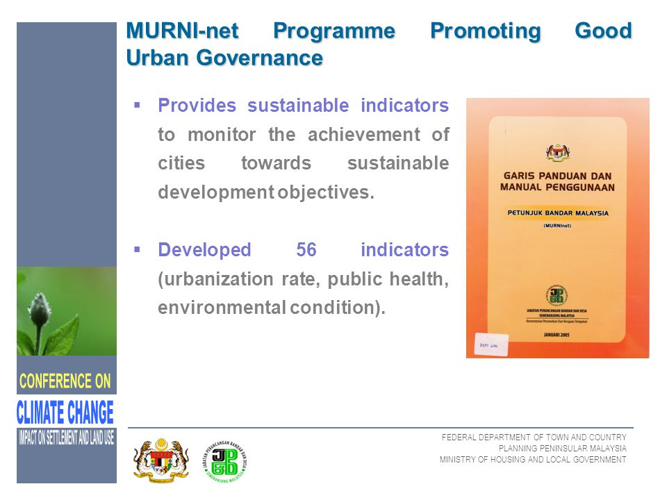 MURNI-net Programme Promoting Good Urban Governance