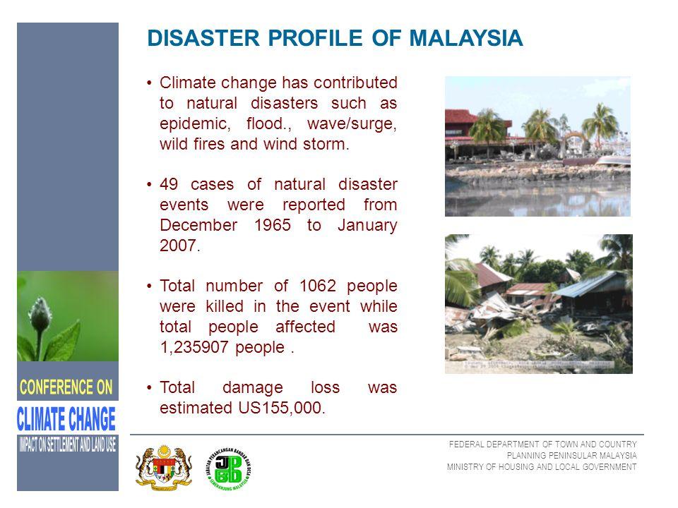 DISASTER PROFILE OF MALAYSIA