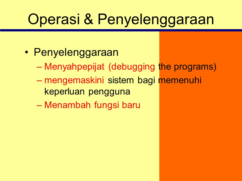 Operasi & Penyelenggaraan