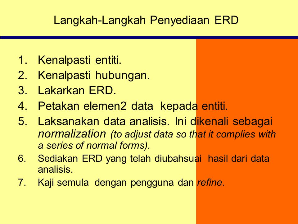 Langkah-Langkah Penyediaan ERD
