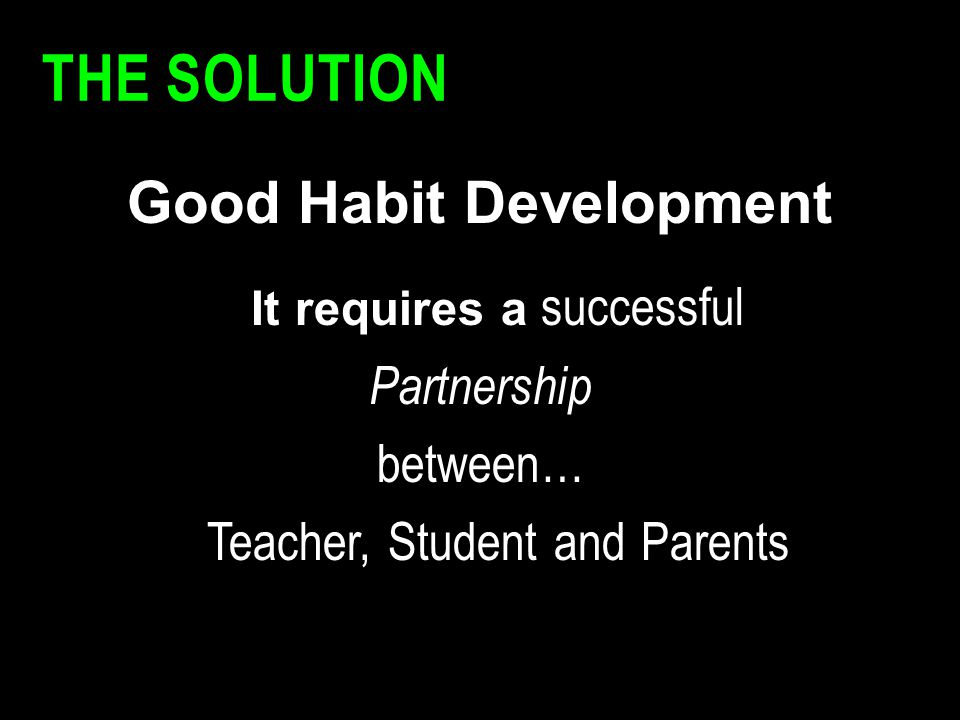Good Habit Development