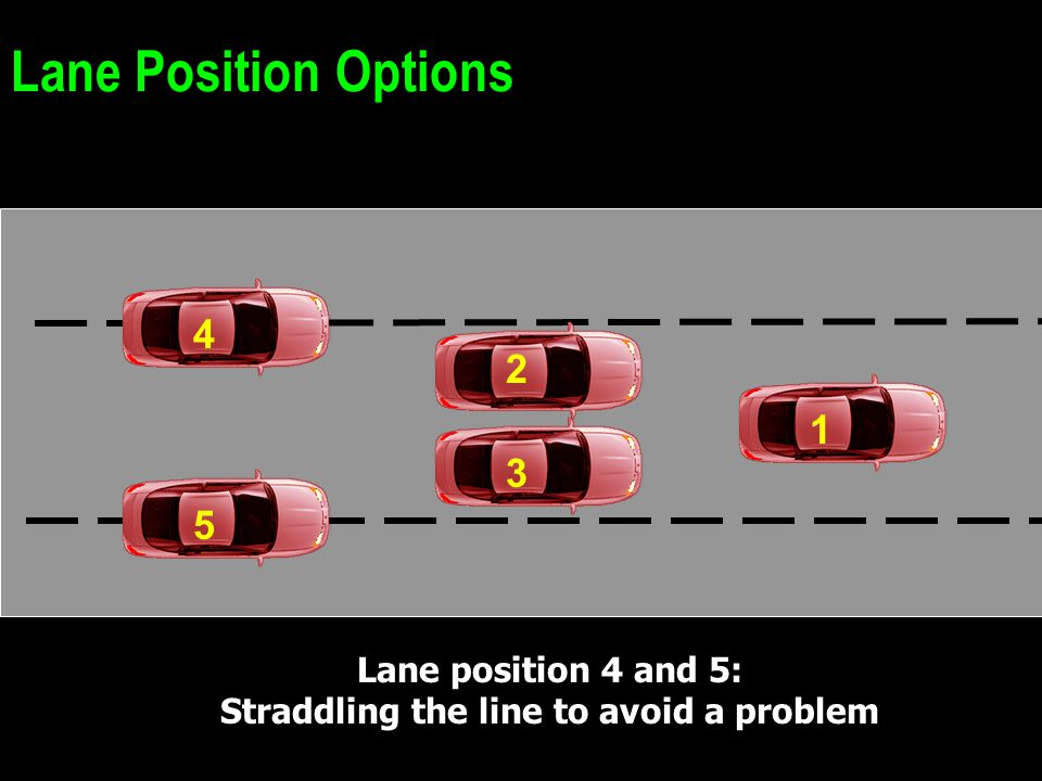 Straddling the line to avoid a problem
