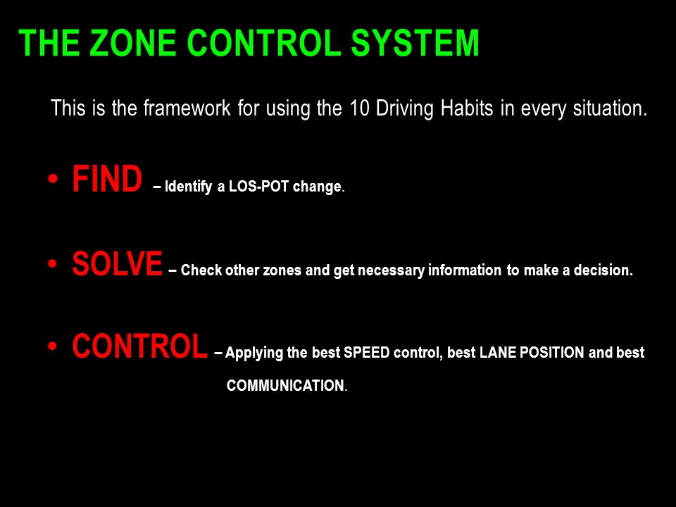The Zone Control System