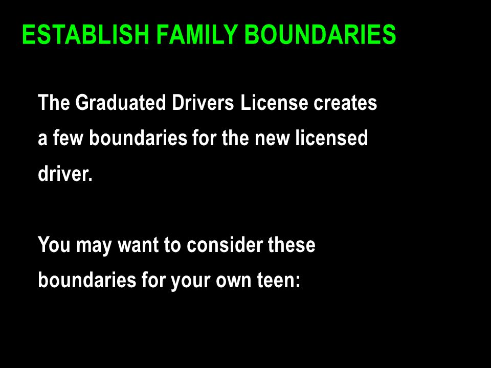Establish Family Boundaries