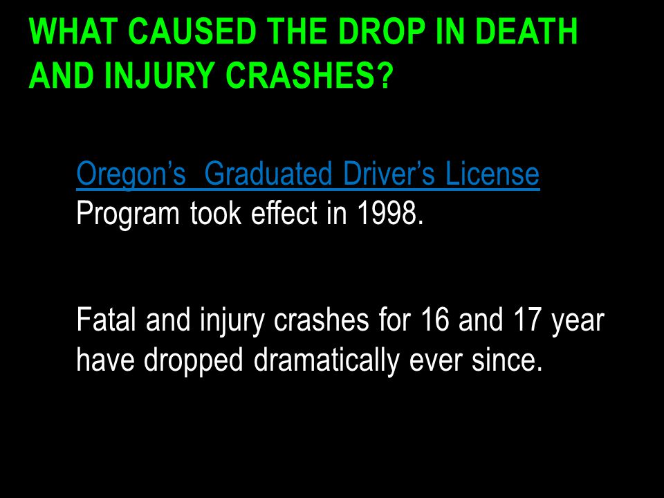 What Caused the Drop in Death and Injury Crashes
