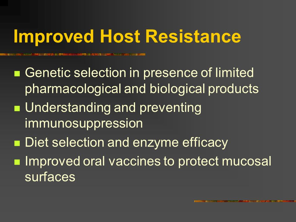 Improved Host Resistance