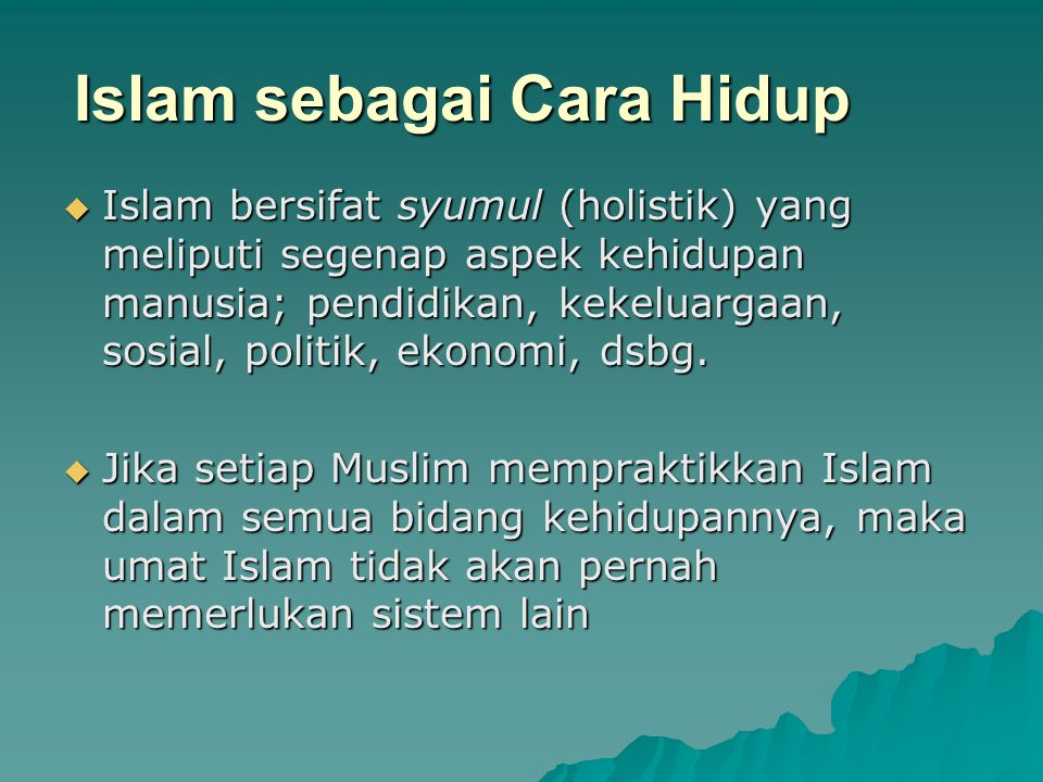 Islam sebagai Cara Hidup