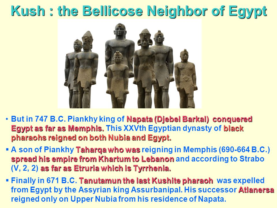 Kush : the Bellicose Neighbor of Egypt