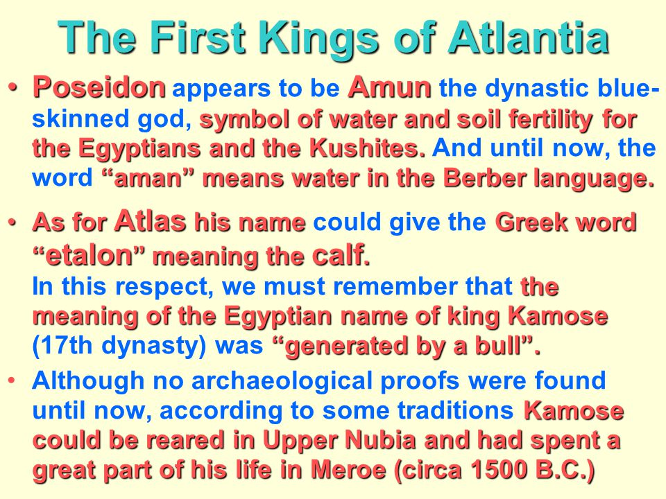 The First Kings of Atlantia